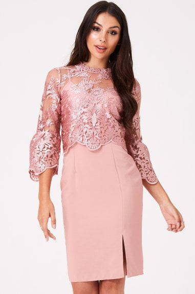 Ginnie Apricot Embroidery Dress
