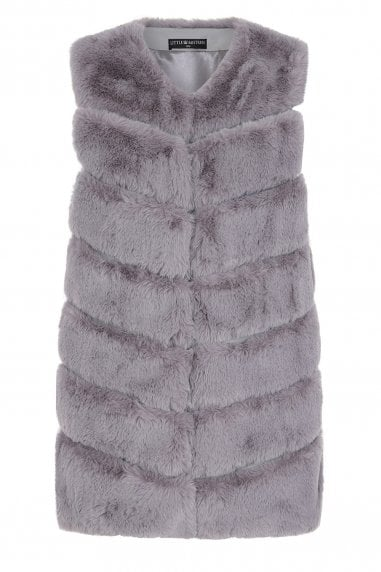 Harley Grey Faux-Fur Gillet