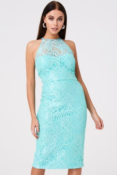 Carlyle Mint Lace Midi Dress