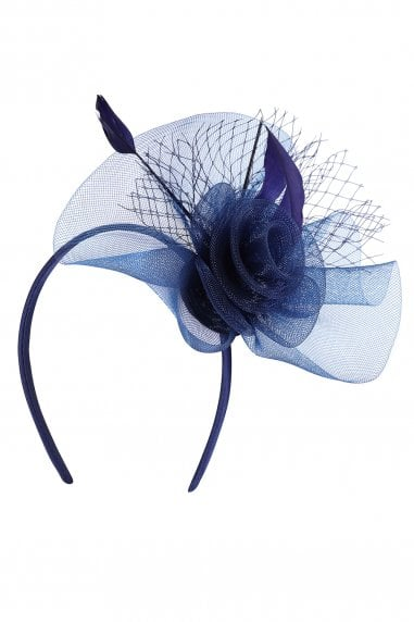 Blue Fascinator Headband