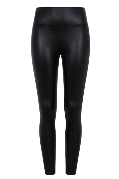Shelby Black Leather Leggings