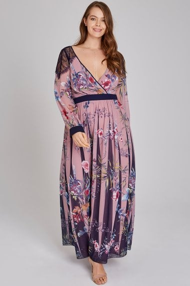 Everly Floral Lace Maxi Dress
