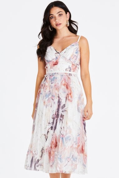 Lea Marble Cami Midi Dress