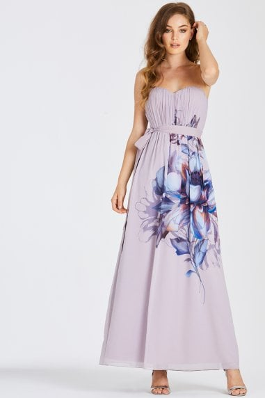 Corina Floral Bandeau Maxi Dress