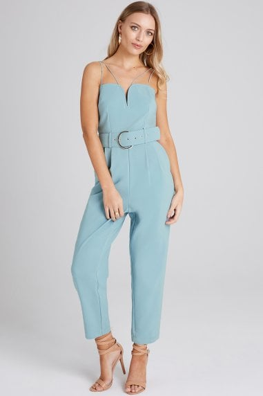 Carpenter Sage Strappy Jumpsuit