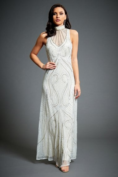 Florence Embellished Evening Maxi Dress