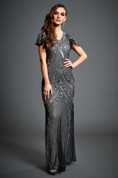 Lima Embellished Evening Maxi Dress