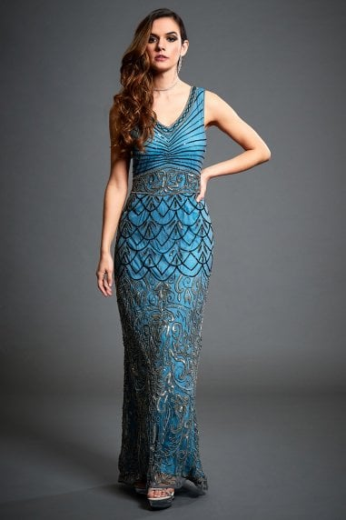 Eva Embellished Evening Formal Dress