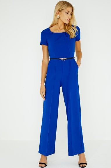 Mabury Cobalt Pleated Jumpsuit