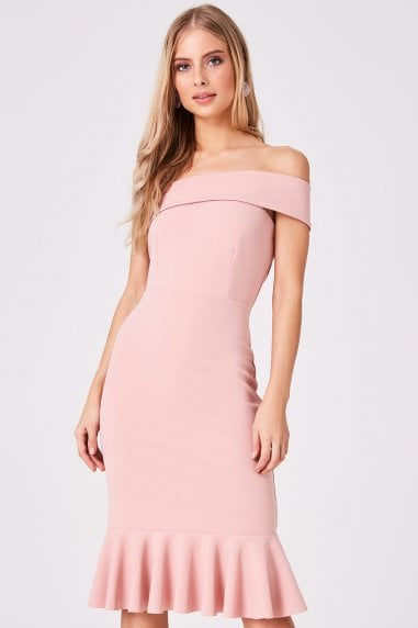 Verge Pink One-Shoulder Bodycon Dress