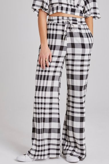 Heath Check Palazzo Trousers Co-ord