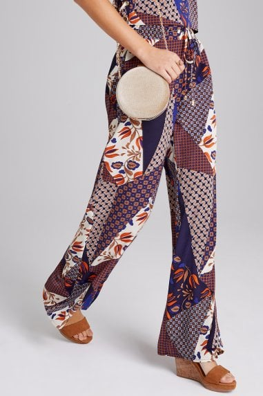 Iris Mixed-Print Trousers Co-ord