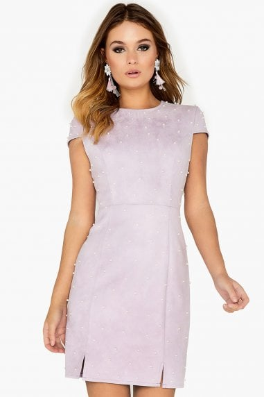 Purple Pearl Studded Dress