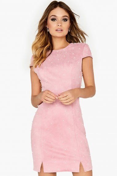 Pink Pearl Studded Dress
