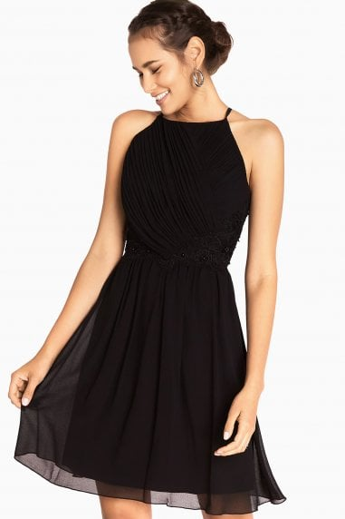 Niamh Applique Waist Strappy Prom Dress