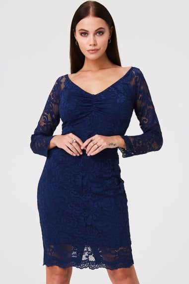 Belgrave Navy Lace Dress