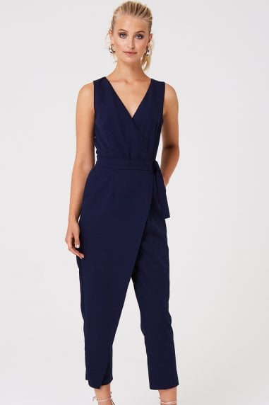 Harley Navy Wrap Jumpsuit