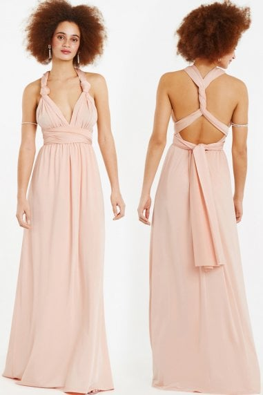 Wear It Your Way Dusty Pink Maxi Dress