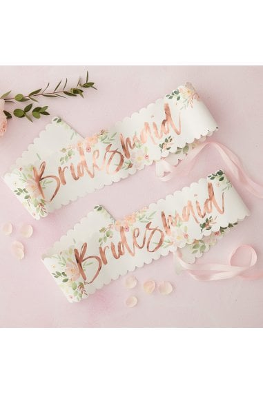 Ginger Ray Floral Bridesmaid Sash