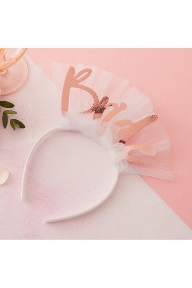 Ginger Ray Rose Gold Bride To Be Headband Veil