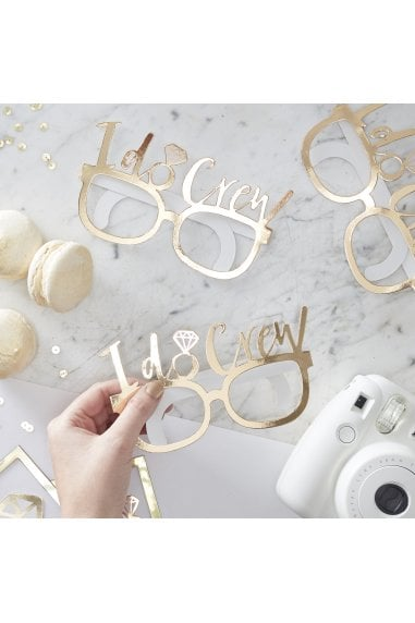 Ginger Ray Gold Foiled I Do Crew Fun Glasses
