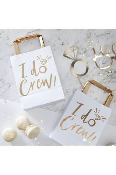 Ginger Ray Gold Foiled I Do Crew Party Bags
