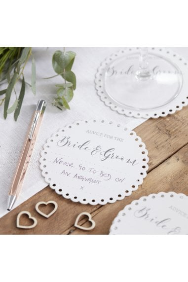 Ginger Ray Botanics Advice For The Bride & Groom Coasters