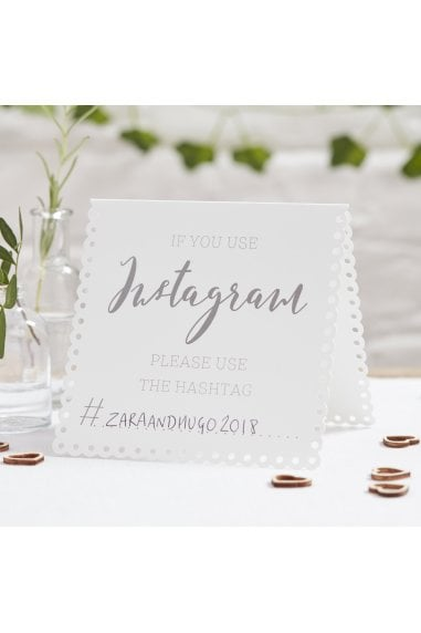 Ginger Ray Botanics Instagram Tent Cards