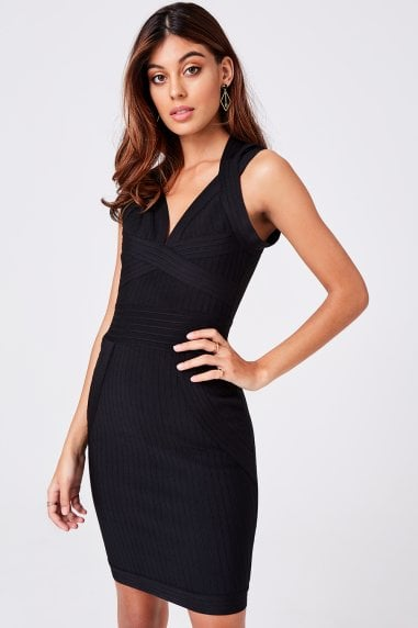 Gabriela Black Bandage Bodycon Dress