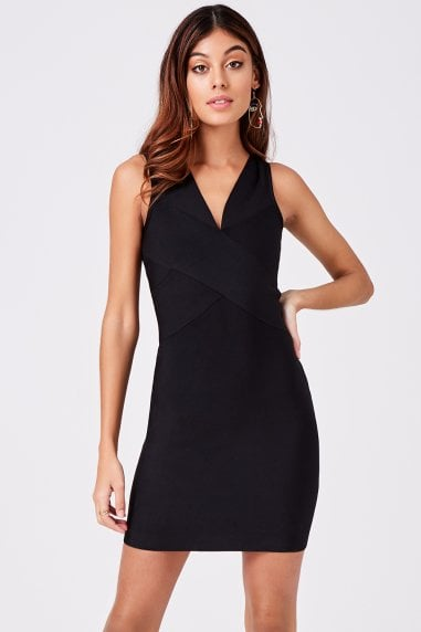 Elena Black Bandage Bodycon Dress