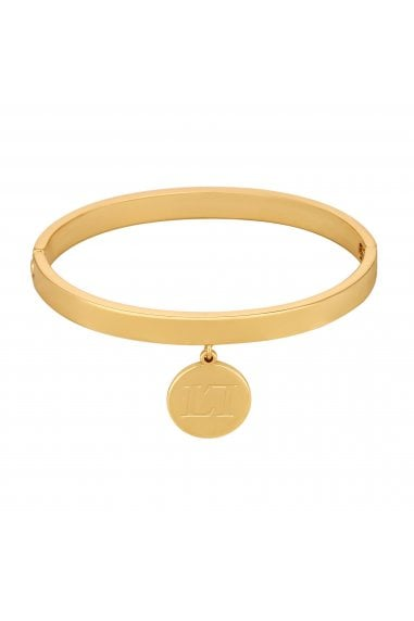 Gold Coin Charm Bangle