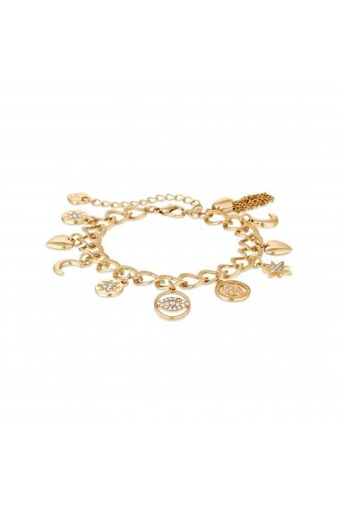 Gold Plated Clear Celestial Charm Bracelet