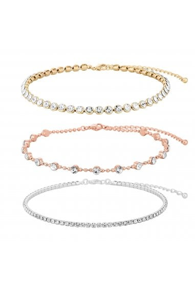 Mixed Plate Clear 3 Pack Choker Necklace