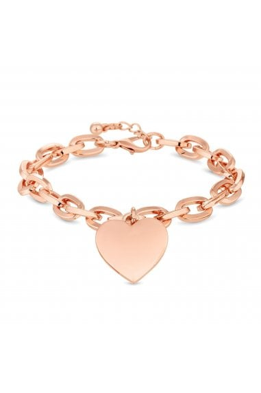 Rose Gold Plated Pink Heart Bracelet
