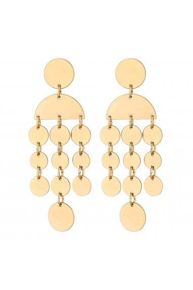Gold Plated Gold Worn Mobile Drop Earrings