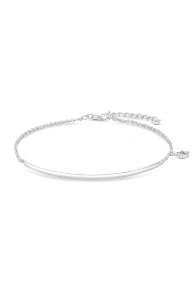 Sterling Silver 925 White Cubic Zirconia Polished Bracelet