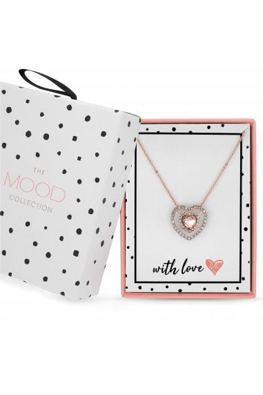 Rose Gold Plated Pink Heart Matching Set