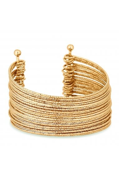 Gold Plated Gold Statement Cuff Bracelet