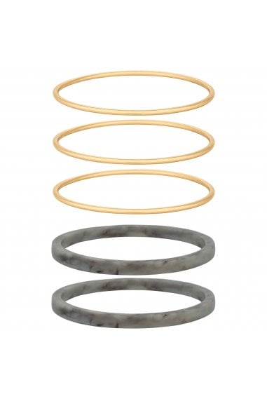 Mixed Plate Multi-Coloured Multipack Bangle Bracelet