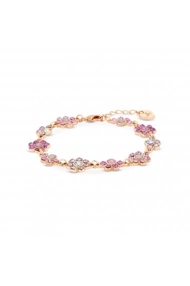 Rose Gold Plated Pink Floral Bracelet
