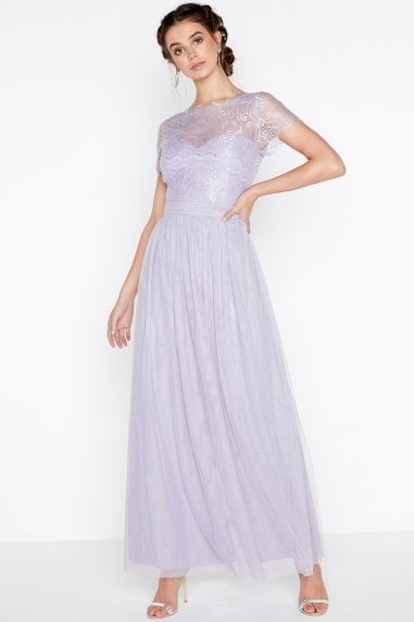 Bridesmaid Overlay Maxi Dress