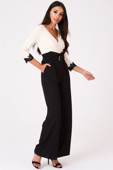 a7e1fd5533a Tammy Beige Belted Jumpsuit