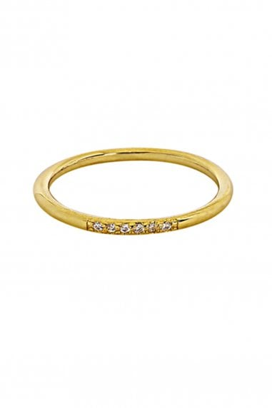 Gold Lunar Gold Plated Sterling Silver Cubic Zirconia Ring