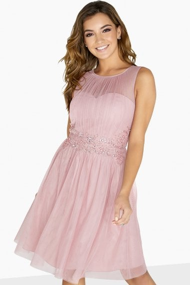 Kate Embellished Waist Prom Dress