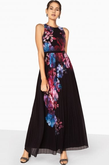 Aurora Placement Print Maxi Dress