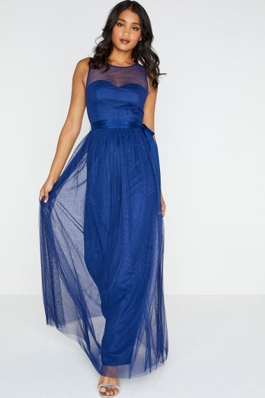 Delphi Sweetheart Mesh Maxi Dress