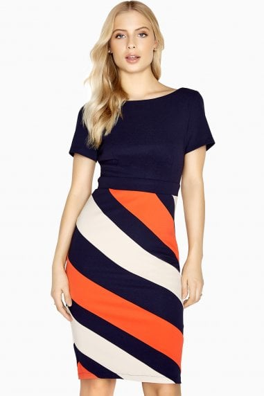 Biarritz Diagonal Stripe Dress