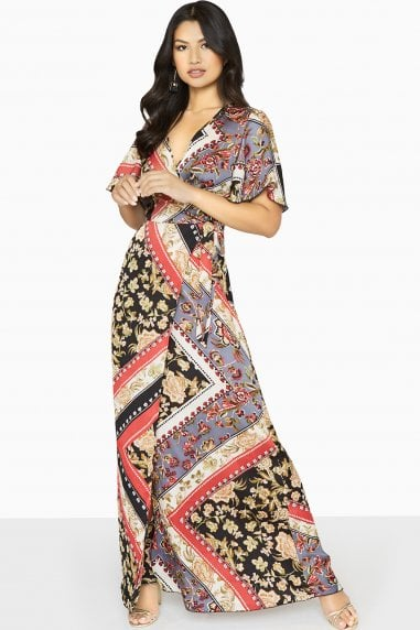 Clarity Wrap Maxi Dress