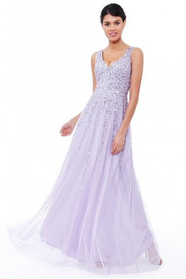 Sunray Sequin Maxi Dress - Lavender
