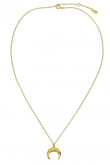 Gold Lunar Gold Plated Horn Pendant Necklace